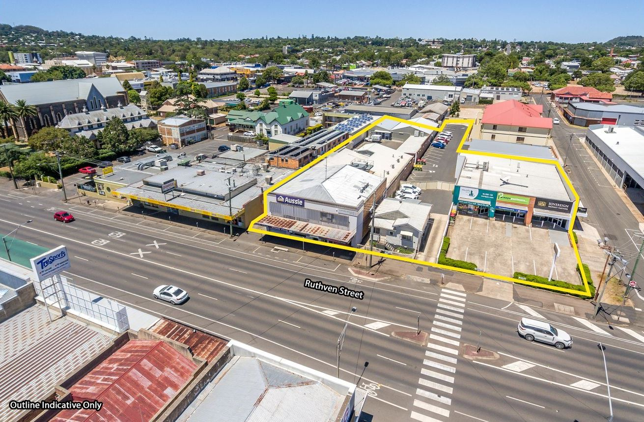 Toowoomba CBD properties for sale through Ray White. The sites house 16 businesses.