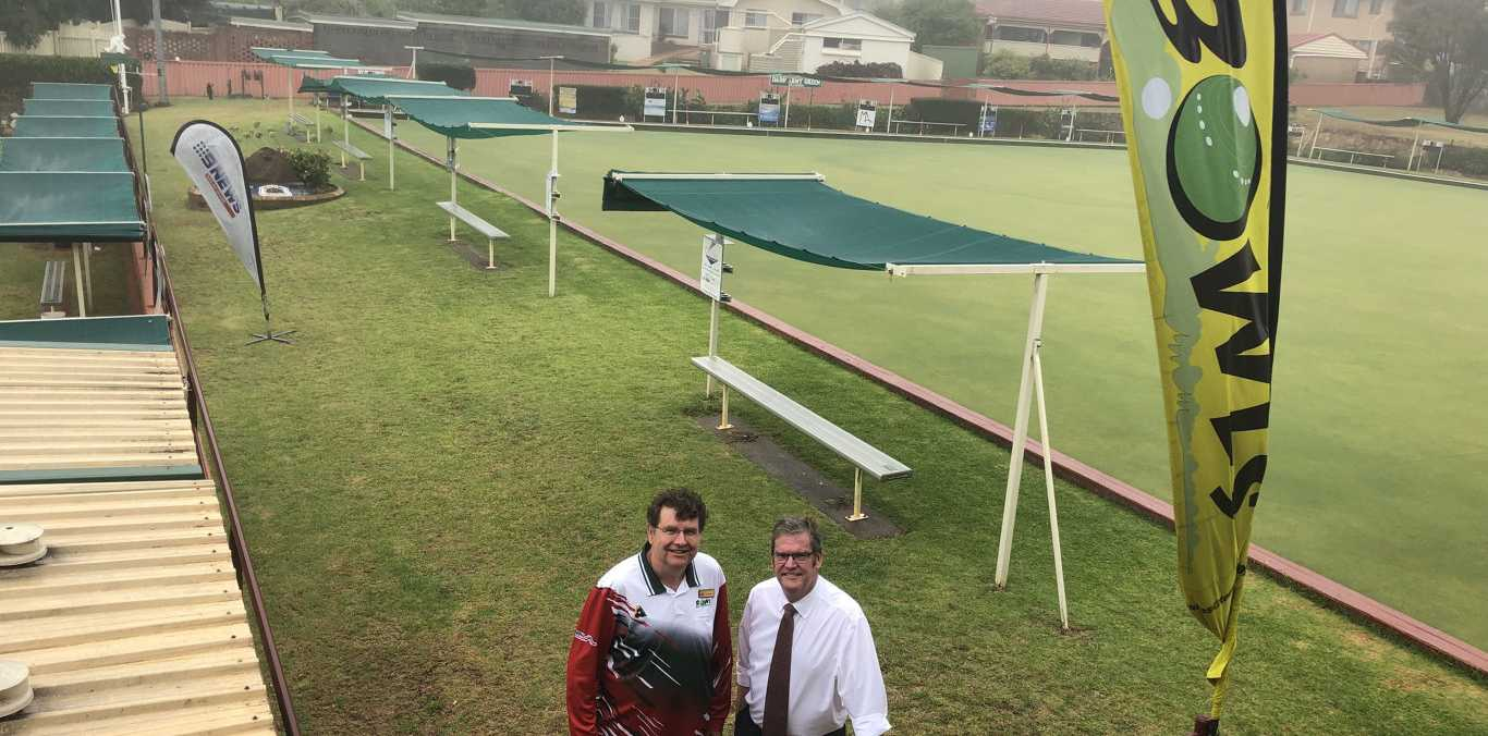 BIG PLANS: President of the Toowoomba North Bowling Club Cameron King (left) has been thrilled by federal funding to upgrade the club's facilities. He stands with Groom MP Dr John McVeigh.