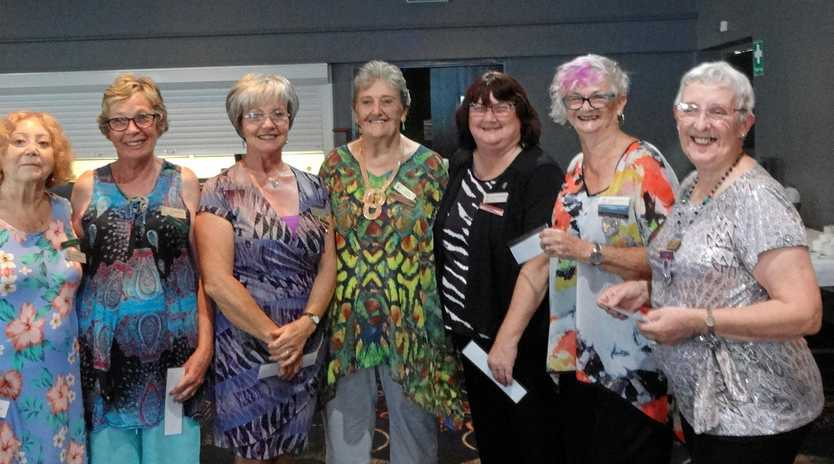 NEW COMMITTEE: Gympie VIEW Club 2019 members (from left) Annie Waters (Assistant Treasurer), Margaret O'Keefe (Treasurer), Glynis Vallmuur (Delegate), Carol Tonagh (Assistant Secretar)y, Christine (Fewtrell Secretary), Barbara Cameron (President), Jean Jennings (Zone Councillor). Not pictured: Lee Hodgson (Vice-President).