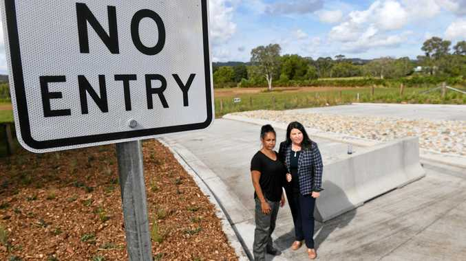 NO WAY: Ballina MP Tamara Smith and Arakwal woman, Delta Kay, at the West Byron site. They are pushing for the site to become part of the Cumbebin Swamp Reserve.