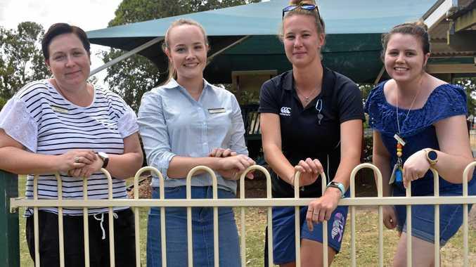 WELCOME: New teachers Margot Cooper, Katie Wilson, Nicole Maynard and Vanessa Baker.
