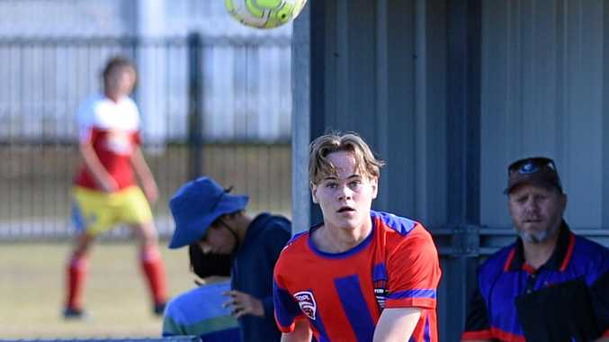 Buccaneers under-15 player and Bundaberg's Simon Quik scored two goals in the first round on Sunday.