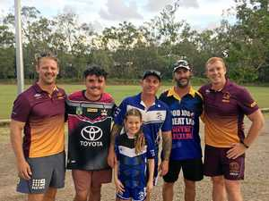 Former NRL stars visit Gladstone for a session