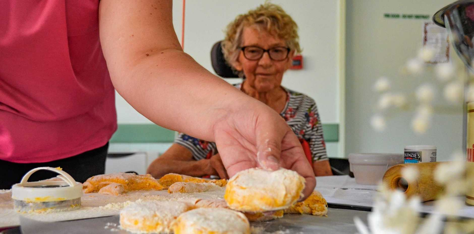 PUMPKIN PASTIME: Elsie Vicary relives a favourite pastime as she bakes pumpkin scones.