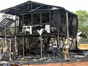 PHOTOS: Blaze reignites at fire-savaged property