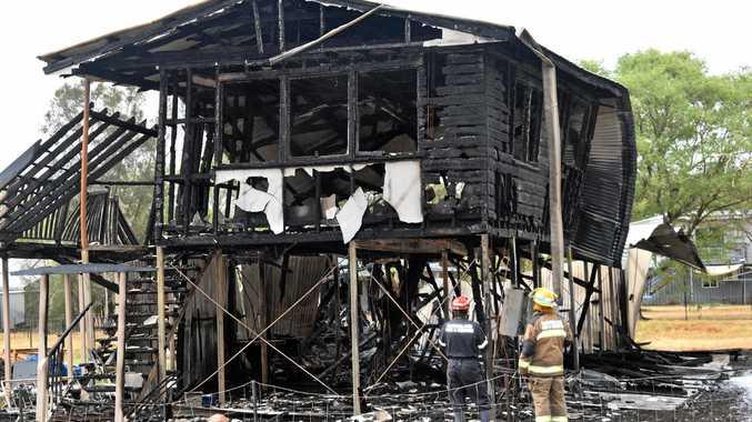 FIRE: Blaze destroys house in small Lockyer Valley town.
