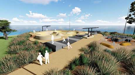 VIBRANT SPACE: Concept designs of the new Fraser Coast Youth Precinct in Pialba. Construction of the new skate park started this week.