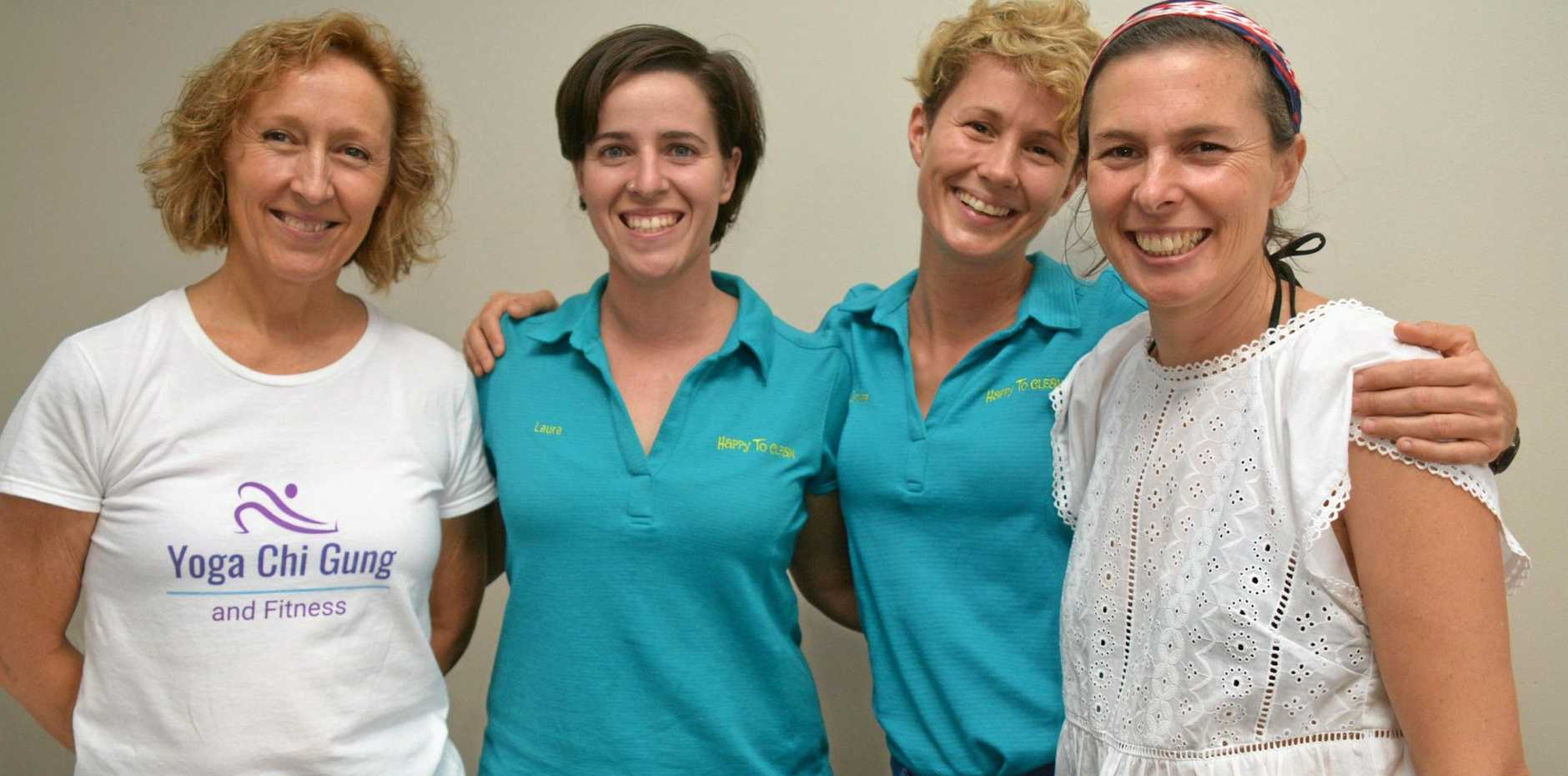 IN BUSINESS: Janine Vukelic, Laura Cobos, Caroline Mudd and Monique De Martin at the Business XL event in Kingaroy on February 5.