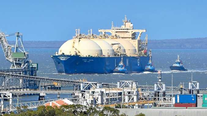 LNG Tanker arriving in Gladstone harbour.
