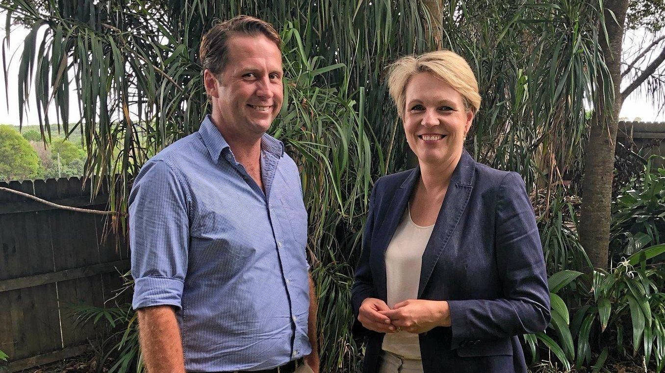 BOOST: Federal Deputy Labor leader Tanya Plibersek was in Bangalow to support Asren Pugh for the March state election.