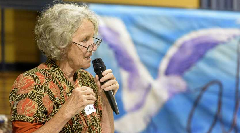 MEET OUR OAMS: Emeritus Professor Judy Atkinson speaks at the Our Young People Matter forum at Grafton Community Centre.