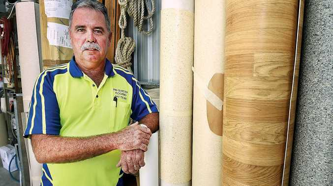 BACKING THE LOCALS: Ian Glaister from Ian Glaister Flooring says there are at least half a dozen subbies in the Fraser Coast who have experienced problems working for big building businesses.