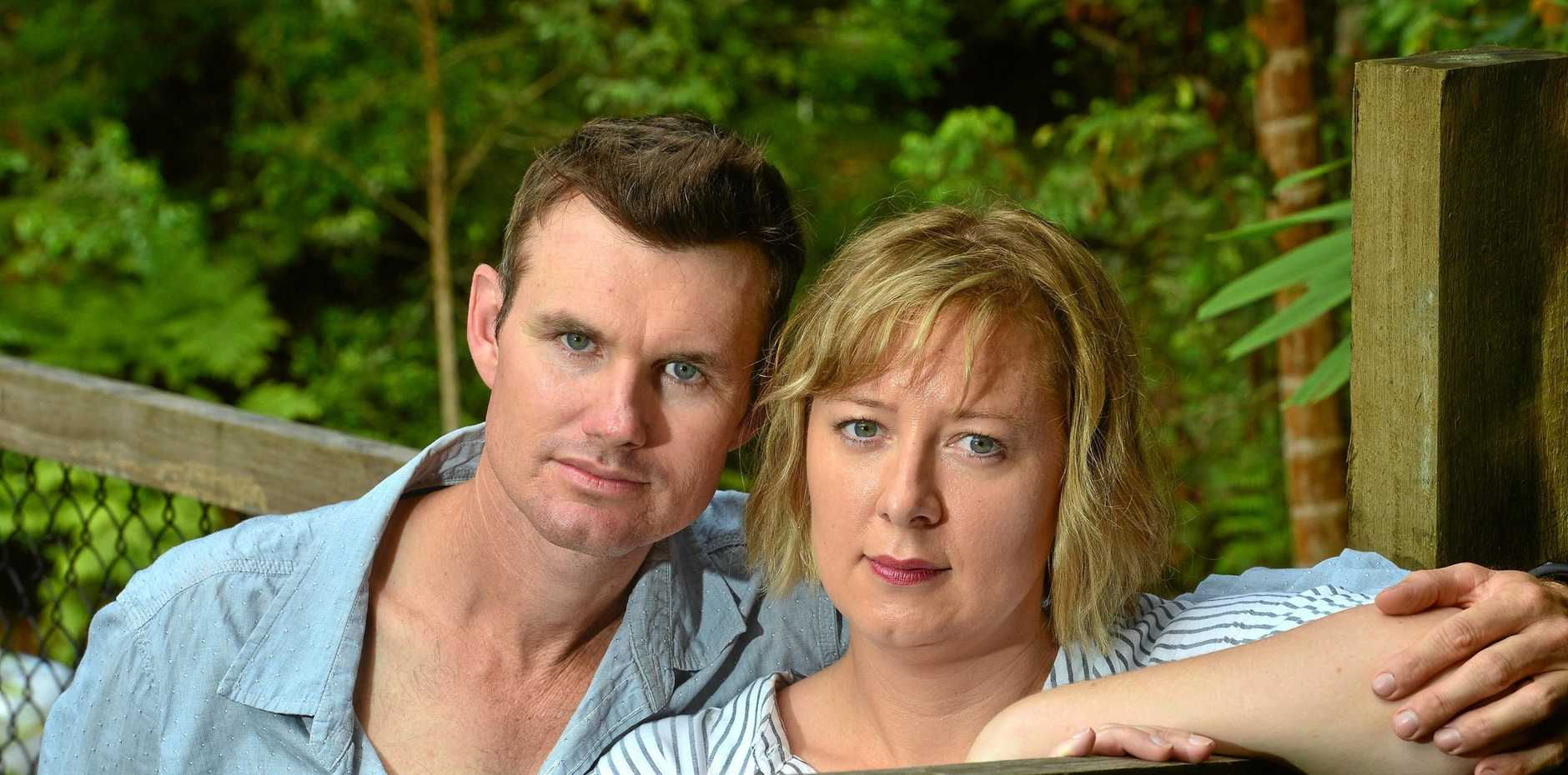 STILL BROKEN: Beau and Kerry Hartshorn were not prepared for the devastation caused by a contact that was never honoured.
