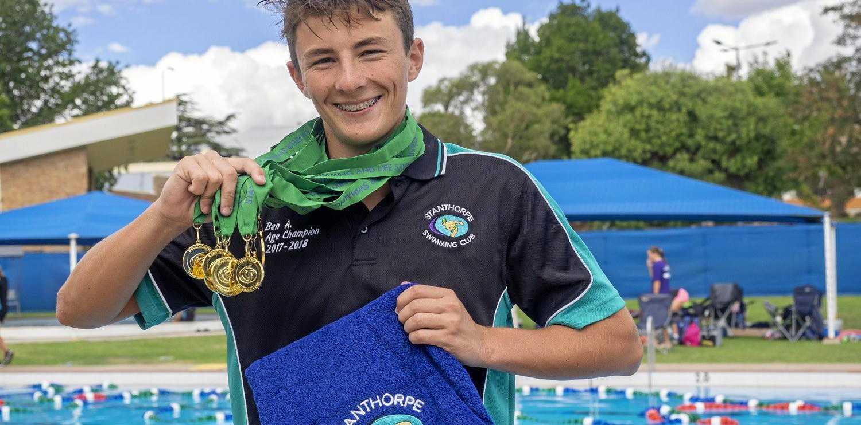 WINNER: Ben Armbruster - Age Champion 15yrs + Boys.