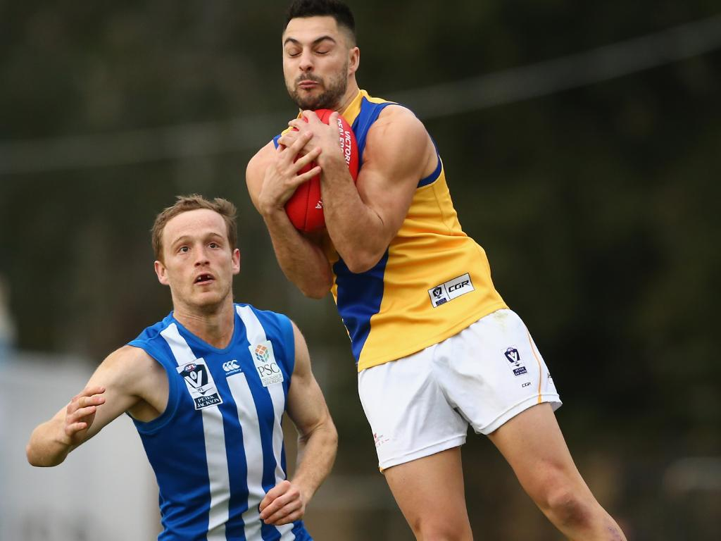 Williamstown VFL star Michael Gibbons is doing everything he can to secure a spot on Carlton's list. Picture: AFL Media/Getty Images