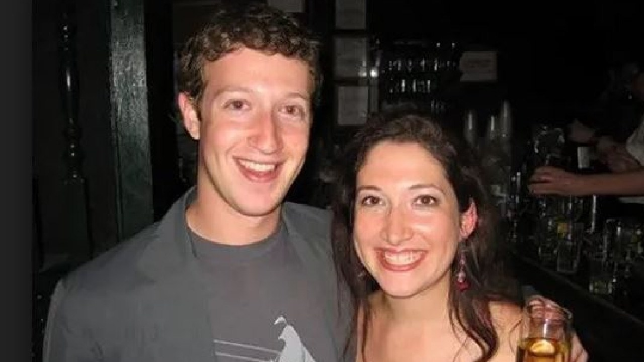 Mark Zuckerberg and big sister Randi Zuckerberg. Picture: Supplied