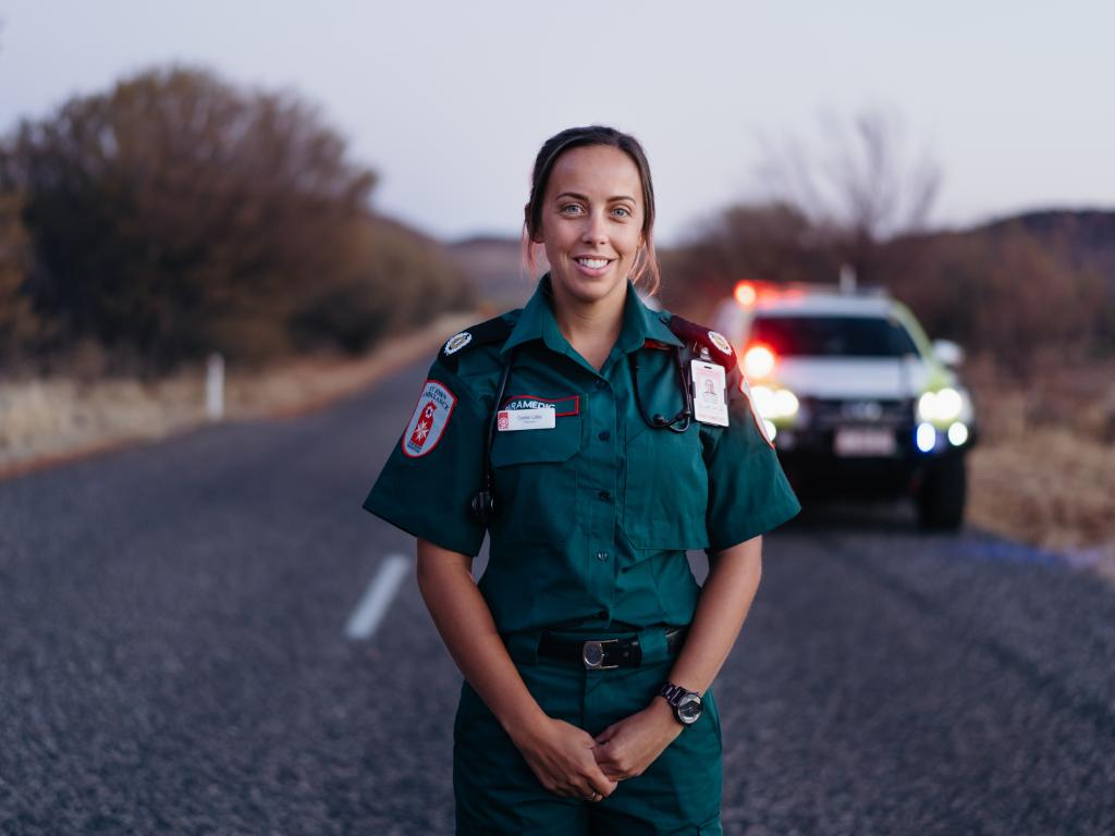 Intensive Care Paramedic Caitlin Little always wanted to work in a remote region. Picture: ACU