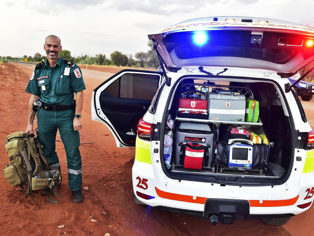 The St John's Critical Response Unit in Alice Springs is trained to work in a remote, hostile and challenging environment. Picture: Chloe Erlich