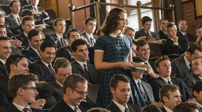 Felicity Jones stars as Ruth Bader Ginsburg in ON THE BASIS OF SEX, directed by Mimi Leder. In cinemas February 7, 2019. An Entertainment One Films release.