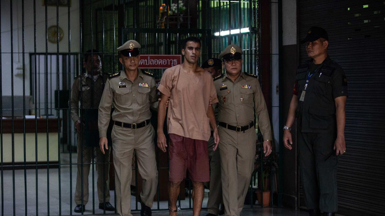 The departure of Hakeem al-Araibi, a refugee footballer, from Bangkok's Criminal Court