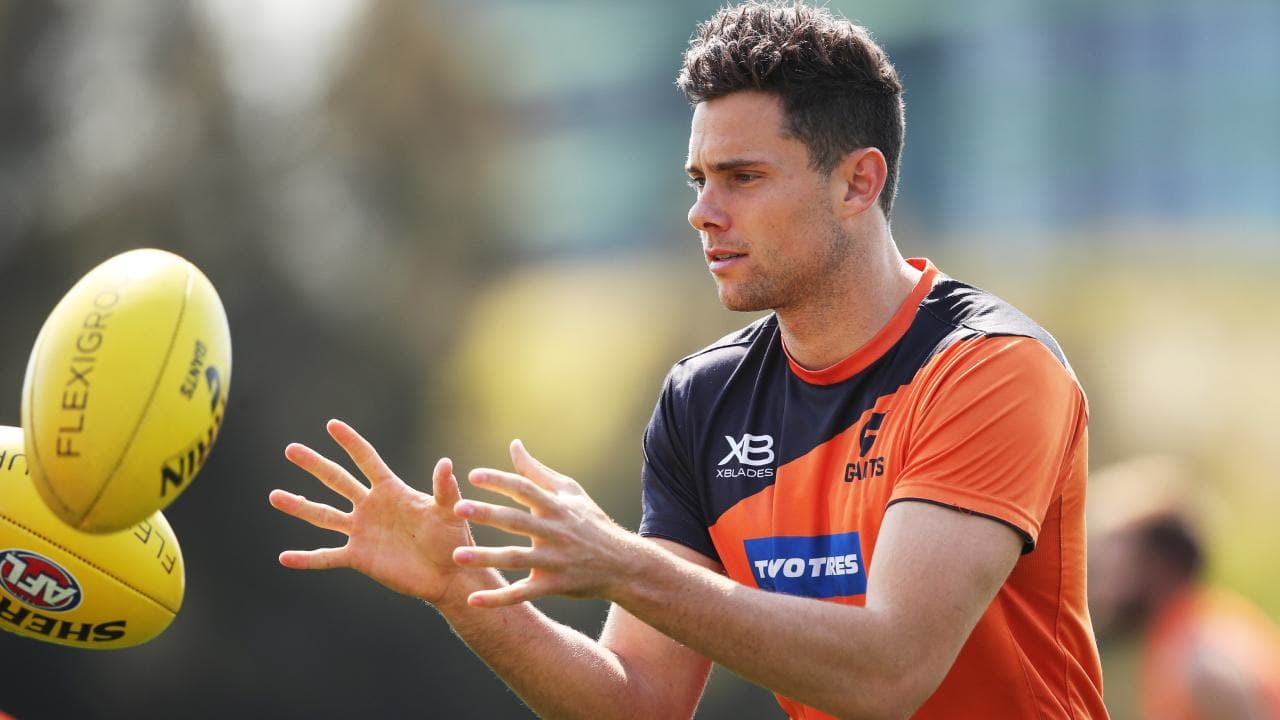 Josh Kelly during GWS Giants training. Picture: Phil Hillyard