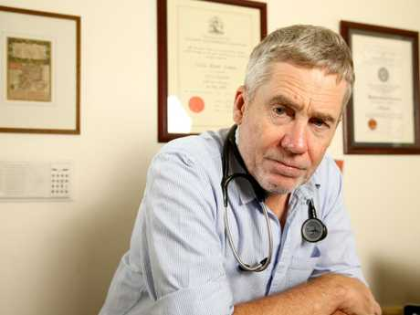 Dr Michael Cameron, an emergency physician at Redland Hospital. Picture:  AAP/Steve Pohlner