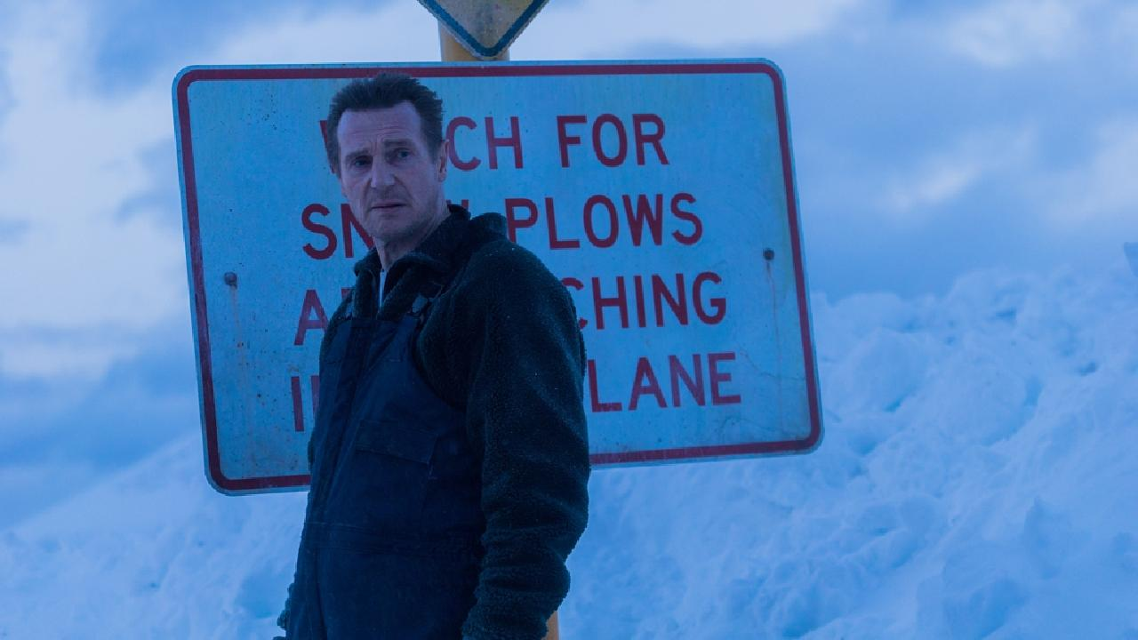 Liam Neeson in a scene from the movie Cold Pursuit. StudioCanal films.