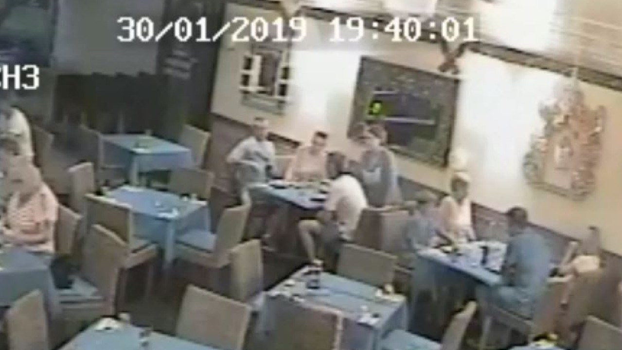 Diners' stingy act caught on CCTV. Picture: Malai Ann Kanthong