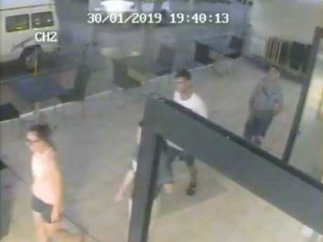 They were caught on CCTV making their way quickly out of the restaurant. Picture: Malai Ann Kanthong