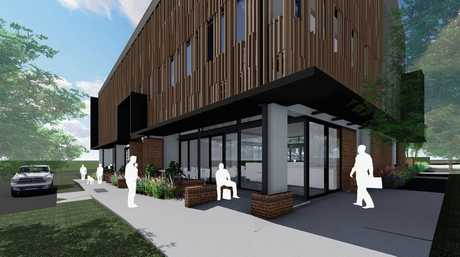 FOR SALE: Work has nearly finished on a boutique office block in the Toowoomba CBD, funded by three local businesses. Two spaces are still for sale in the building.