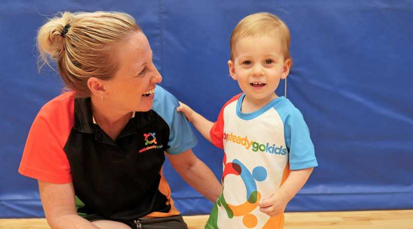 SPORT SUPPORT: Ready Steady Go Kids manager Nicci Purton with son Finn Somers.