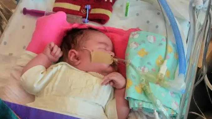 LITTLE ANGEL: After only eight days, Zeva Rosalina Dennis died as a result of complications during her birth, which resulted severe brain damage and organ failure.