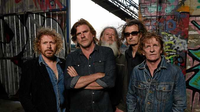 THE BEASTS: Kim Salmon (guitar), Tex Perkins (vocal), Tony Pola (drums), Boris Sujdovic (bass) and Charlie Owen (guitar).