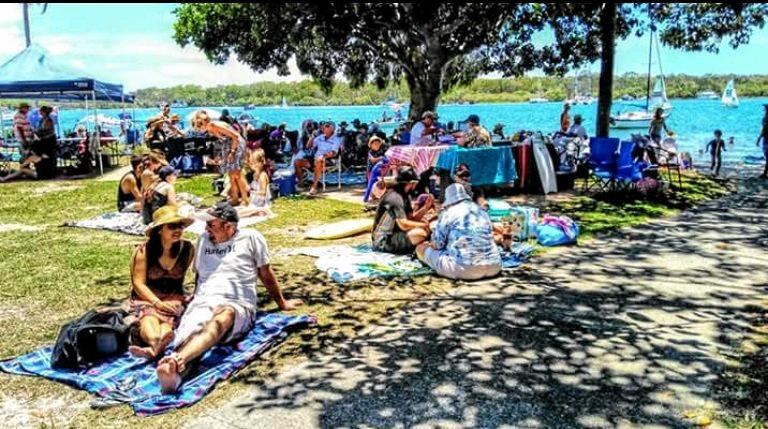 If you can't get a barbecue space, share with others, or bring a blanket at Noosaville's Lions Park.