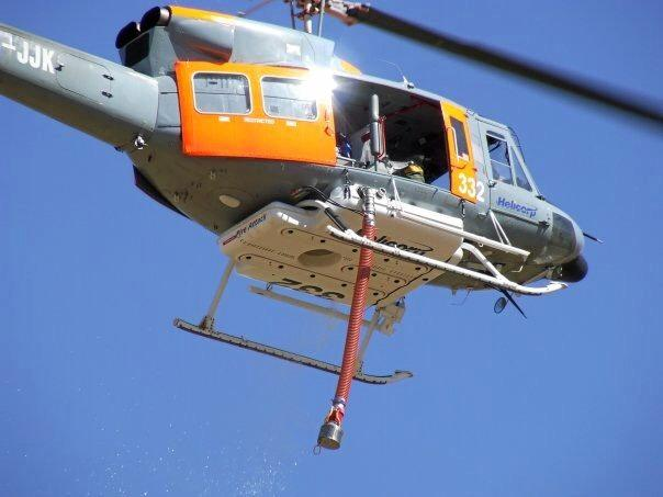 The helicopter Paul Cross flew when fighting the Black Saturday bushfires.