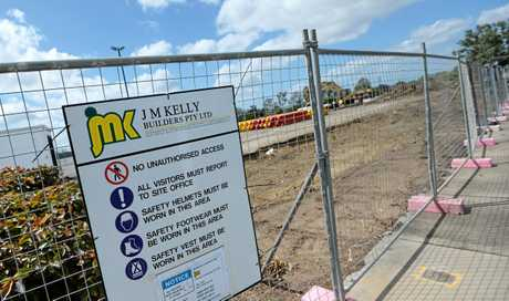 Aldi's construction on Gladstone Rd, South Rockhampton, halted in October 2018 after JM Kelly collapsed.