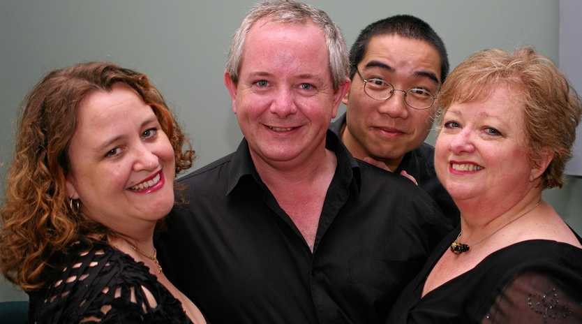 THEY'RE BACK: A Chap (Bernard Wheaton), the Divas (D'Arne Sleaman and Elizabeth Hood) and a Piano (Mark Leung).