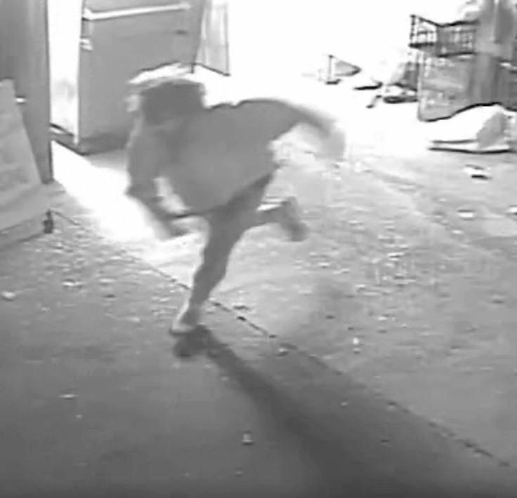 CCTV footage of arson attack on Maleny Cheese Factory.