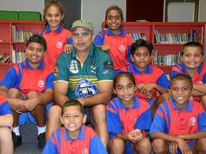 NRL legends go back to school before big game