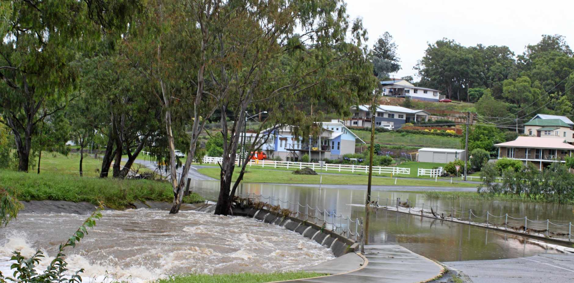 Overflowing: The Park Road Weir Bridge during the 2009 flood.