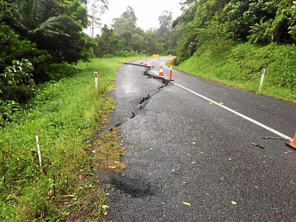 Damage to Dalrymple Road, Eungella
