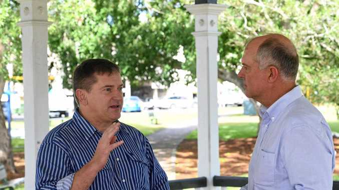 Federal Member for Wide Bay Llew O'Brien and Gympie MP Tony Perrett.