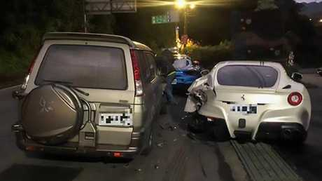 The driver allegedly fell asleep before the crash. Photo: Asiawire.