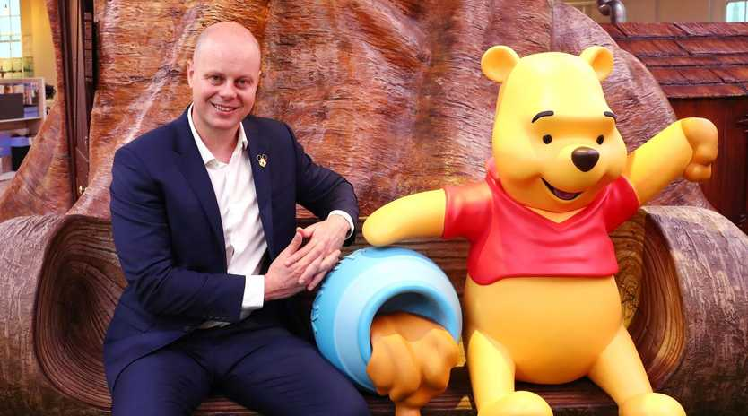 David Jones chief executive David Thomas at the Winnie the Pooh section at the new level eight retail store last year. Picture: John Feder/The Australian