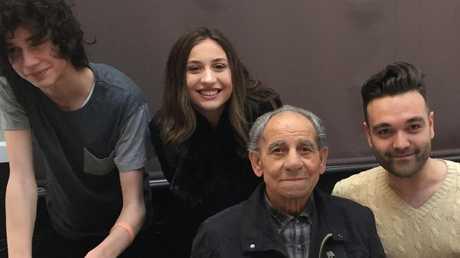 Tullio Farella with grandchildren Ethan, Alysha and Luca.