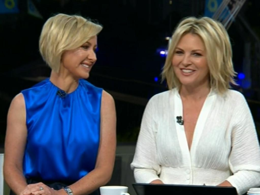 Channel Nine Today Show hosts Deb Knight and Georgie Gardner on their first day.