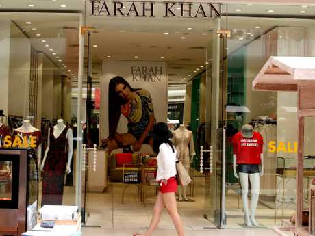 The up-market Farah Khan shop where Hogg was arrested by police. Picture: Lukman S.Bintoro