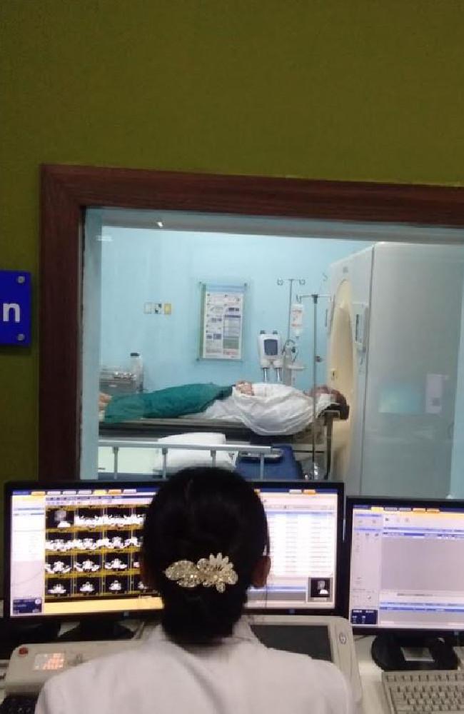 Nathan Mark Ryan undergoing tests in Siloam Hospital, Bali.