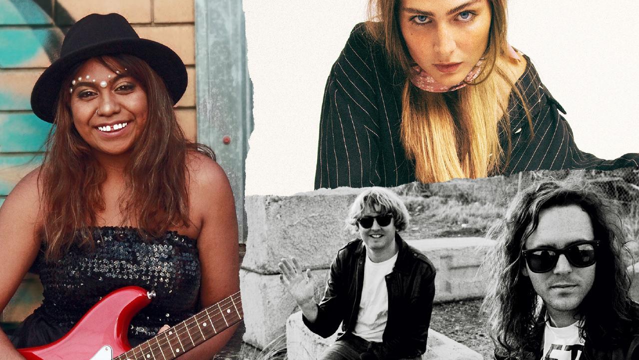 2019 Queensland Music Awards finalists Emily Wrramara, DZ Deathrays and Clea.