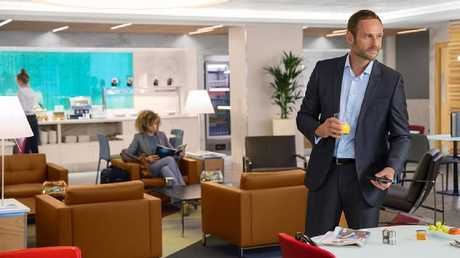 The swanky arrivals lounge keeps celebs away from screaming fans and snap-happy media. Picture: American Airlines